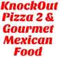 Knockout Pizza 2 & Gourmet Mexican Food logo
