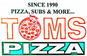 Tom's Pizza Pasta & Subs logo