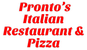 Pronto's Italian Restaurant & Pizza logo