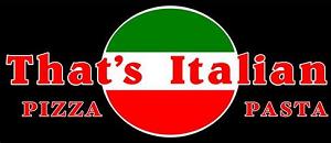 That's Italian Pizza & Pasta  logo