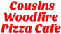 Cousins Woodfire Pizza Cafe logo