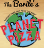 The Barile's Planet Pizza logo