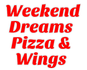 Weekend Dreams Pizza & Wings logo