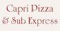 Capri Pizza & Sub Express logo