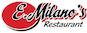 E Milano's Pizza logo