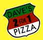 Dave's 2 For 1 Pizza logo