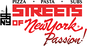 Streets of New York Pizza logo