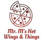 Mr. M's Hot Wings & Things logo