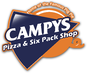 Campys Pizza & 6 Pack Shop logo