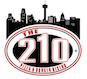 The 210 Pizza & Burger Bistro logo