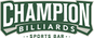 Champion Billiards Sports Bar logo