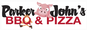 Parker John's BBQ & Pizza logo