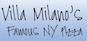 Villa Milano's Pizza logo