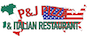 P & J Pizza logo
