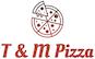 T & M Pizza  logo
