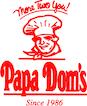 Papa Dom's Pizza logo