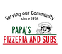 Papas Pizzeria & Subs logo