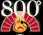 800 Degrees Lima Road Location logo
