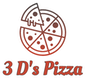 3 D's Pizza logo