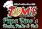 Tom's Papa Dino's Pizza logo