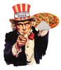 Uncle Sam's Pizza logo