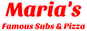 Maria's Famous Subs & Pizza logo