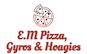 E.M Pizza, Gyros & Hoagies logo