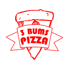 3 Bums Pizza logo