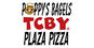 Poppy's Bagels Pizza & TCBY logo