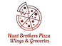Hunt Brothers Pizza Wings & Groceries logo