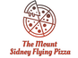 The Mount Sidney Flying Pizza logo