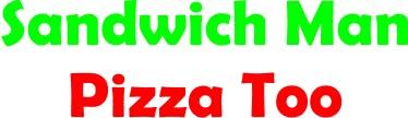 Sandwich Man Pizza Too